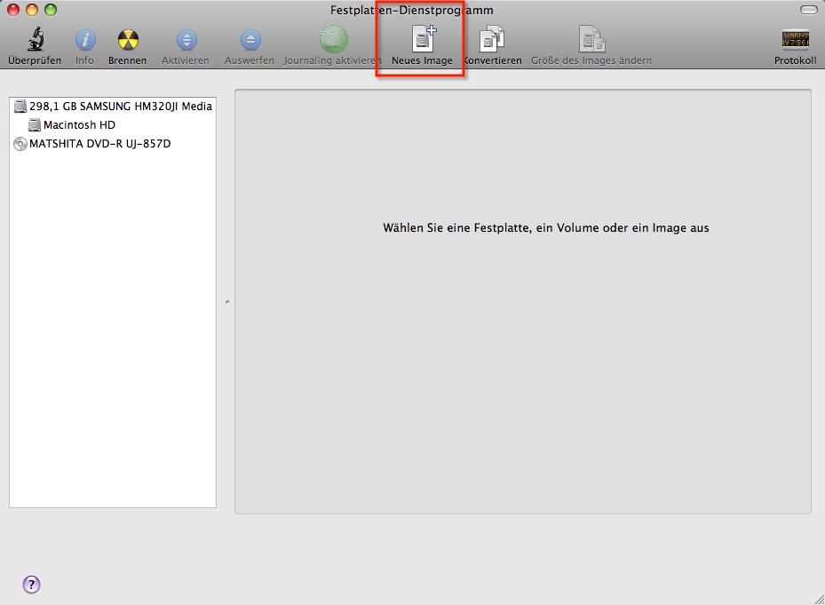 Verschlüsseltes Image in Mac OS X