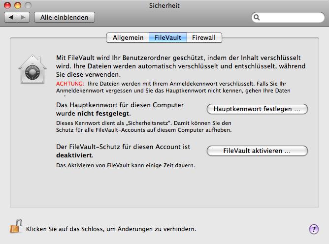 Mac OS FileVault