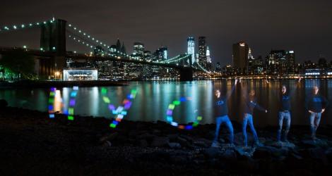 Langzeitbelichtung Multiblitz Lightpainting