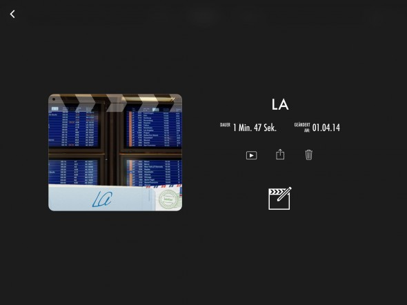iMovie auf dem iPad