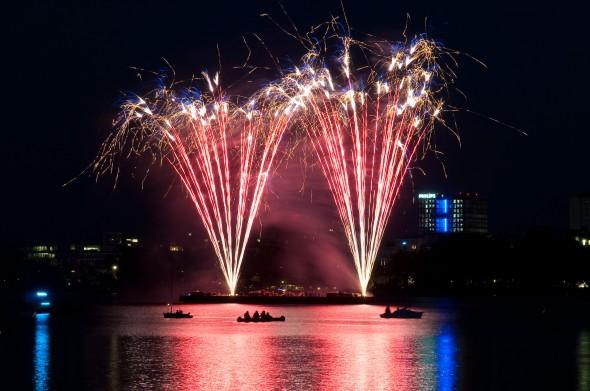 Feuerwerk Kirschblütenfest Hamburg