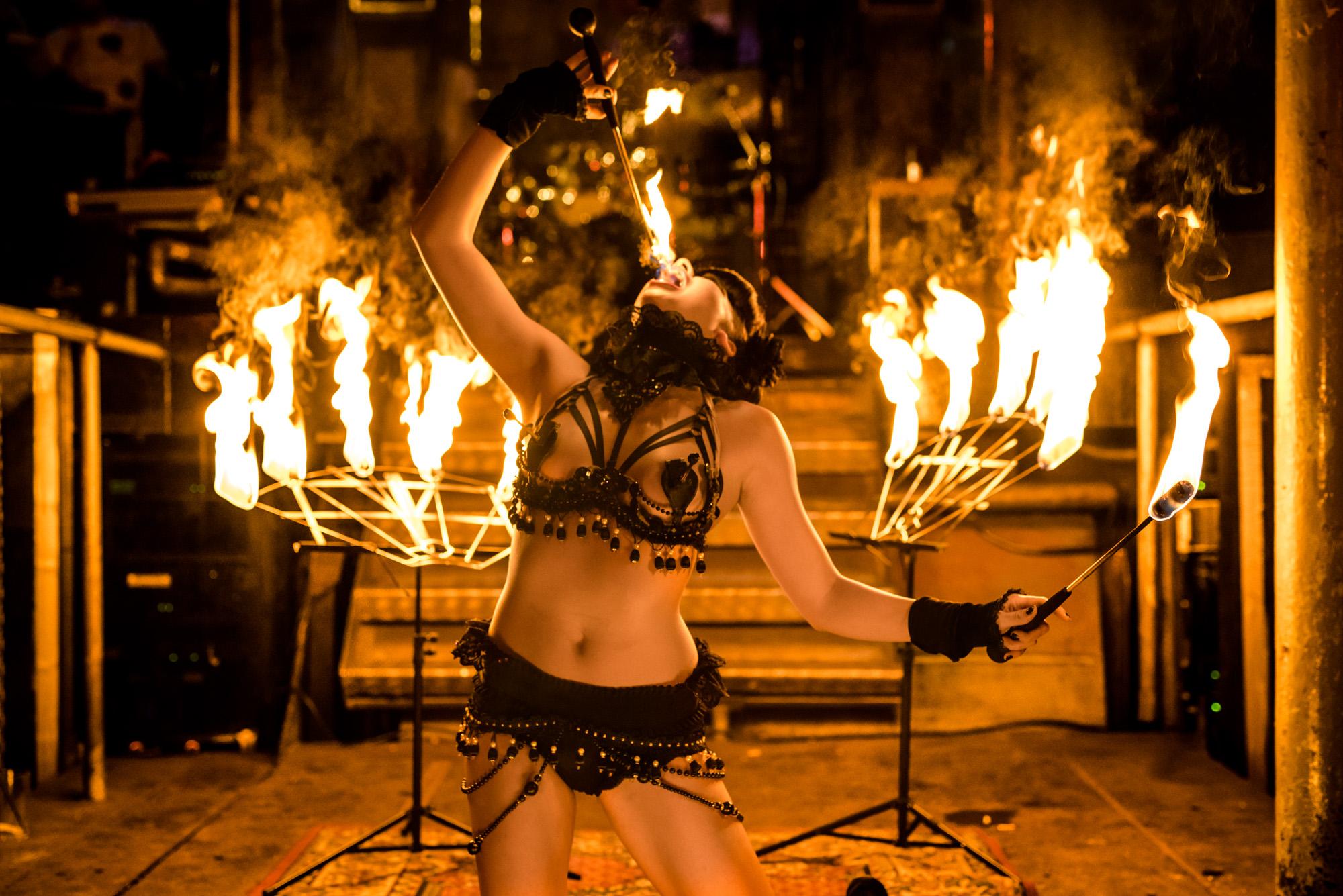 Richtige Belichtung bei Feuershows | Neunzehn72