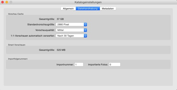 Lightroom_Katalogeinstellungen