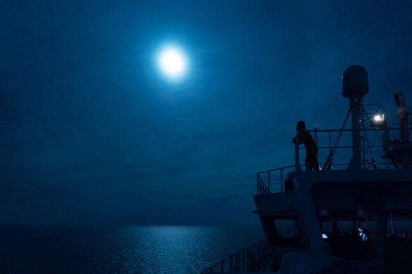 Vollmond auf See