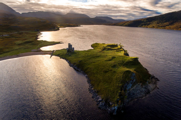 Ardvreck Castle - DJI Phantom 4