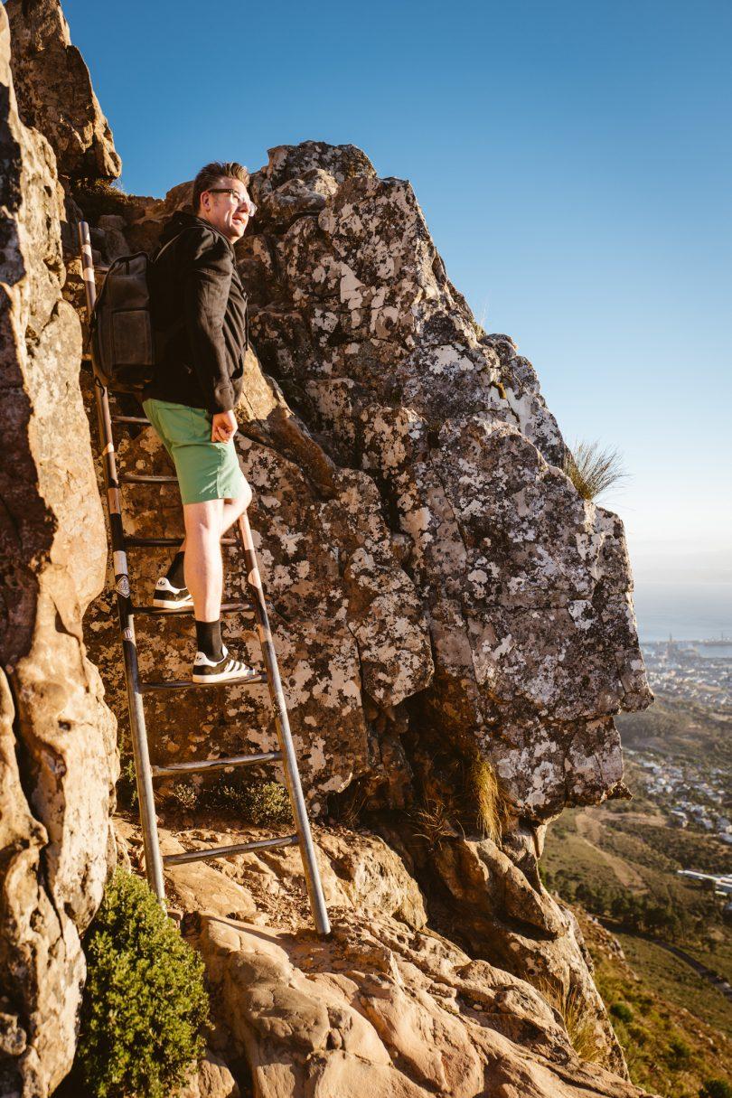 An einigen Stellen muss man eine kleine Leiter hoch