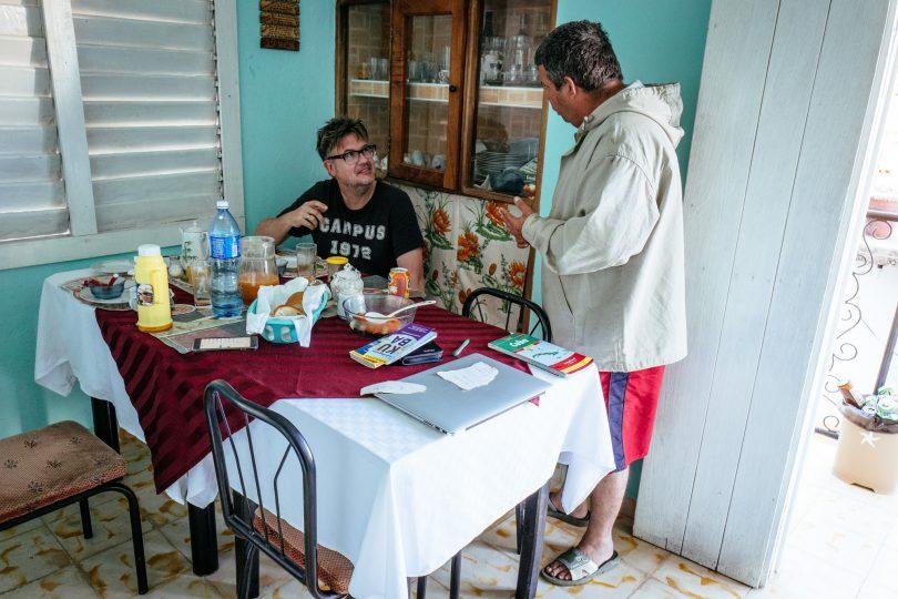 Luis sprach kein Englisch, wir kein Spanisch. Es war sehr unterhaltsam ;-)