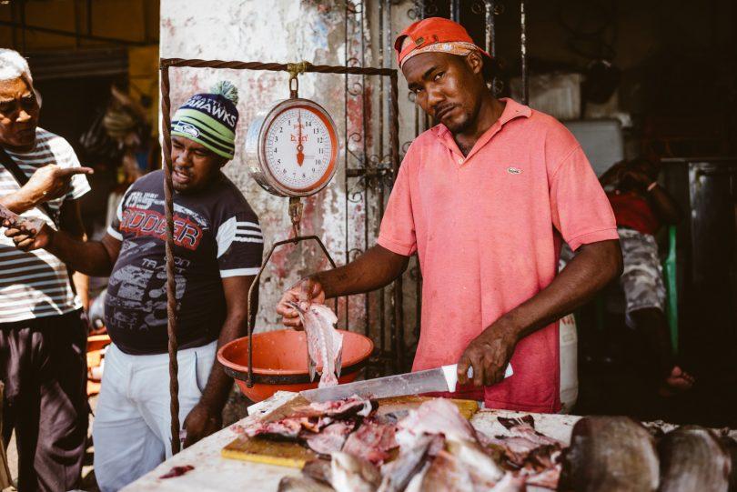 Der freundliche Fischverkäufer von nebenan