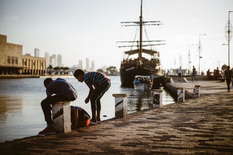 Der Anleger in der Altstadt von Cartagena