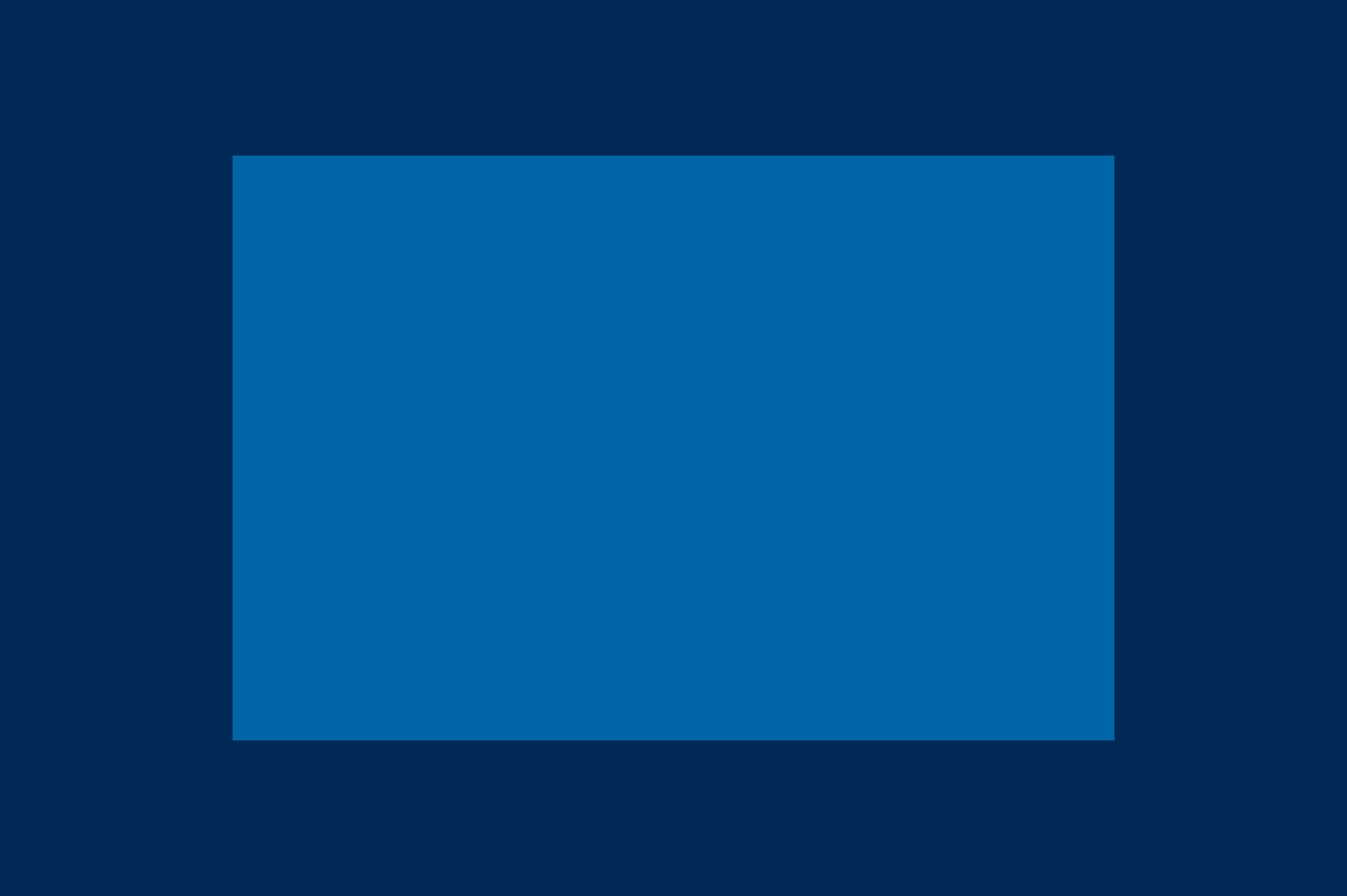 Größenverhältnis zwischen Vollformatsensor (dunkelblau) und APS-C-Sensor (hellblau)
