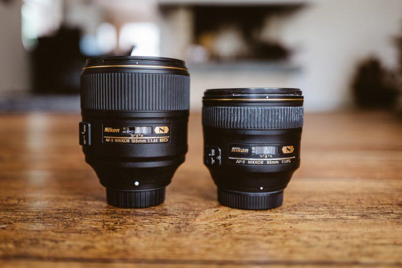 Größenvergleich mit dem Nikon 85 mm f/1.4