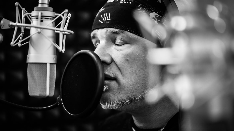 Eric Fish, Subway to Sally, bei Aufnahmen im Great Hall Studio, Ebermannstadt, 5.4.2017
