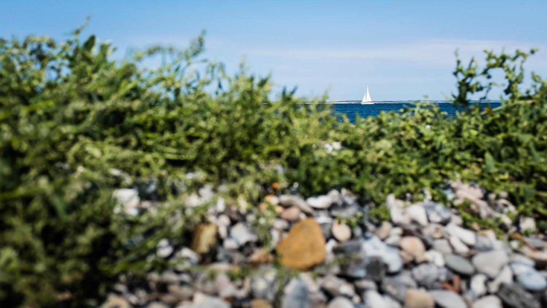 Segelyacht auf der Ostsee vor der Insel Aeroe/Dänemark