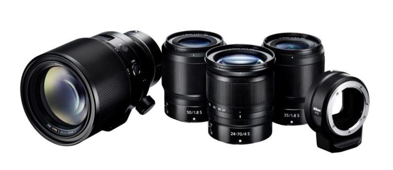 Die Nikkor Z-Objektive. Ganz links das 58 mm f/0.95, welches wahrscheinlich keinen Autofokus haben wird.