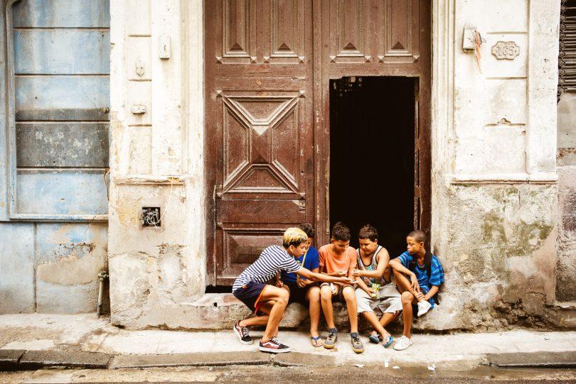 Kids auf der Straße.