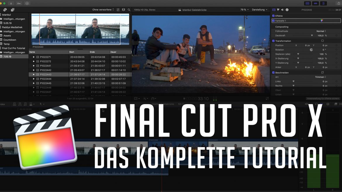 Final Cut Pro X – Das komplette Tutorial | Neunzehn72