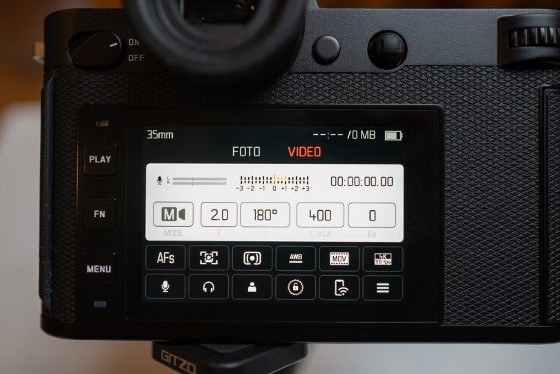 Videoeinstellungen mit Shutter Angle